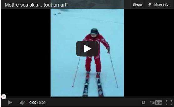 Mettre ses skis à la Vercostyle