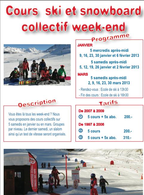 Nouveau: cours collectifsweek-end